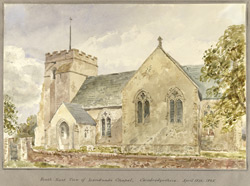 South East View of Landwade Chapel Cambridgeshire April 18th 1845